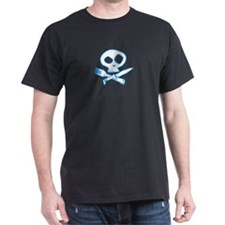 Blue Foodie Skull T-Shirt