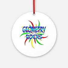 Geometry Rocks Ornament (Round)