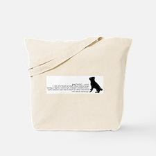Pug Definition Tote Bag