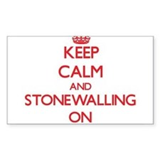 Keep Calm and Stonewalling ON Decal