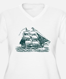 Clipper Ship Plus Size T-Shirt