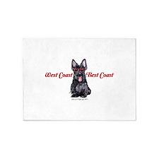 West Coast Scottie 5'x7'Area Rug