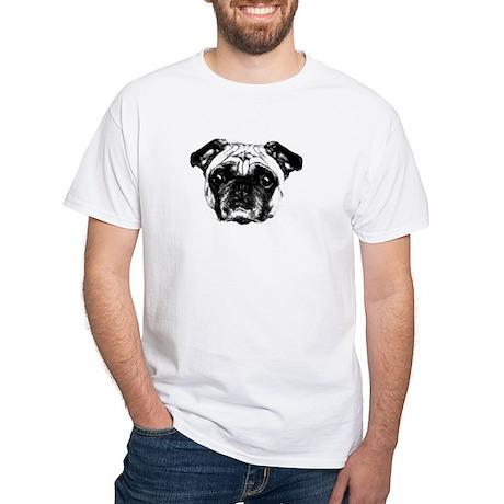 The Fawn Pug White T-Shirt