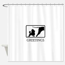 Miniature Poodle Shower Curtain