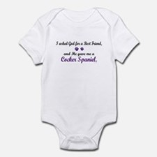 God Gave Me A Cocker Spaniel Infant Bodysuit