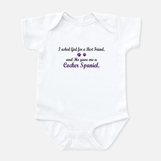 God Gave Me A Cocker Spaniel Infant Bodysuit
