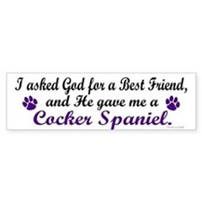 God Gave Me A Cocker Spaniel Bumper Bumper Sticker