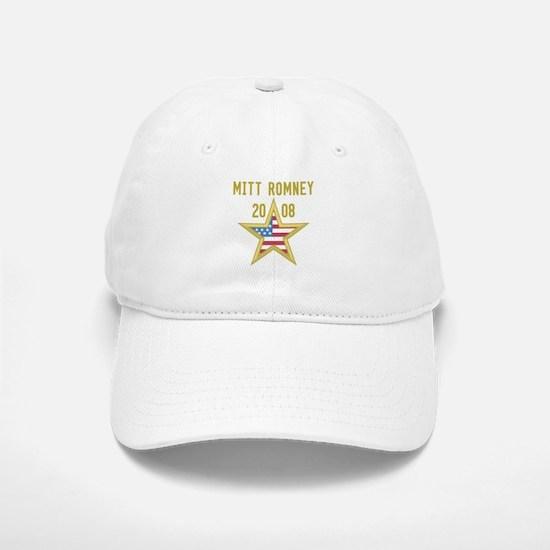 MITT ROMNEY 08 (gold star) Baseball Baseball Cap