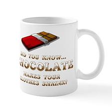 CHOCOLATE MAKES YOUR CLOTHES SHRINK Mug