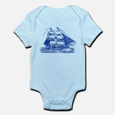 Clipper Ship - Navy Blue Body Suit