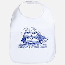 Clipper Ship - Navy Blue Bib