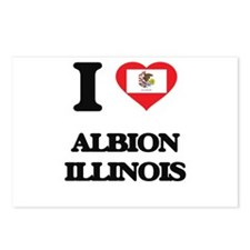 I love Albion Illinois Postcards (Package of 8)