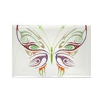 Retro Mod Butterfly Style B6 Rectangle Magnet (100