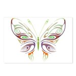 Retro Mod Butterfly Style B6 Postcards (Package of