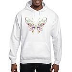 Retro Mod Butterfly Style B6 Hooded Sweatshirt