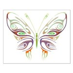 Retro Mod Butterfly Style B6 Small Poster