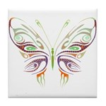 Retro Mod Butterfly Style B6 Tile Coaster