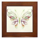 Retro Mod Butterfly Style B6 Framed Tile