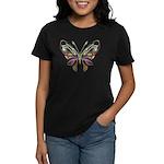 Retro Mod Butterfly Style B6 Women's Dark T-Shirt