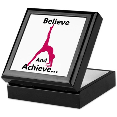Gymnastics Keepsake Box - Believe
