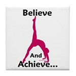 Gymnastics Tile Coaster - Believe