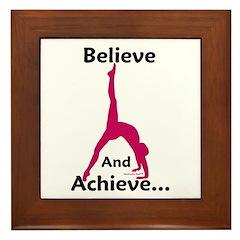 Gymnastics Framed Tile - Believe