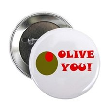 "OLIVE YOU 2.25"" Button (10 pack)"