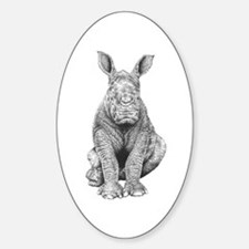 White Rhino Calf Stickers