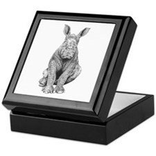 White Rhino Calf Keepsake Box