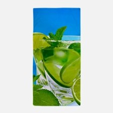 Fresh Water With Lemons And Mint Beach Towel