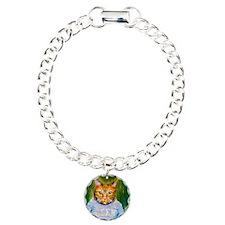 Geek Kitty Charm Bracelet, One Charm