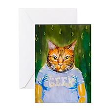Geek Kitty Greeting Card