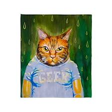 Cute Grumpy cat Throw Blanket