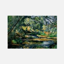 Cezanne - The Brook Rectangle Magnet