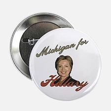 "Michigan for Hillary 2.25"" Button"