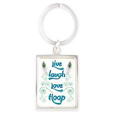 Hula Hoop Dance - Live Laugh Lov Keychains