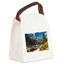 Mountain River Canvas Lunch Bag