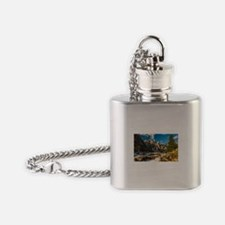 Mountain River Flask Necklace