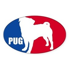 23 Pugs Oval Decal