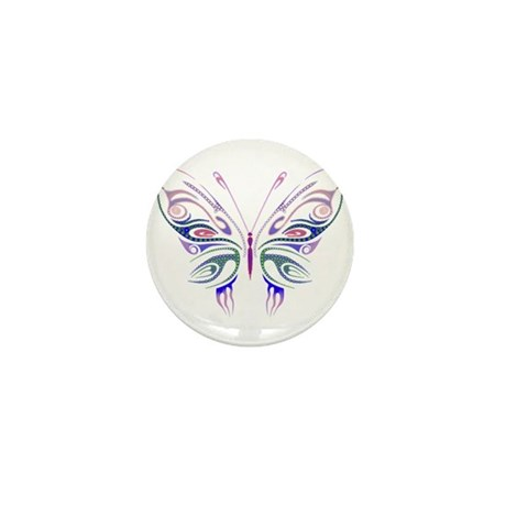 Ornate Butterfly Tattoo Mini Button (100 pack)