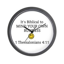 Mind Your Own Business, It's Biblical Wall Clock