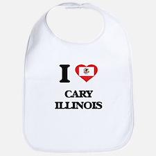 I love Cary Illinois Bib