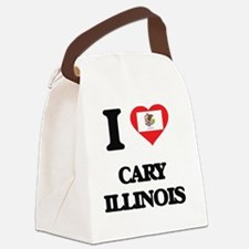 I love Cary Illinois Canvas Lunch Bag