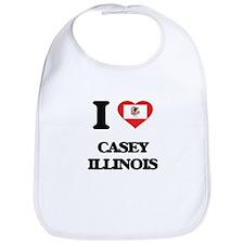 I love Casey Illinois Bib