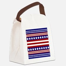 Stars and Stripes Canvas Lunch Bag