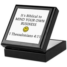 Mind Your Own Business, It's Biblical Keepsake Box