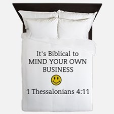 Mind Your Own Business, It's Biblical Queen Duvet