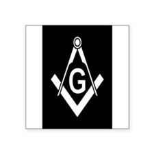 "Cute Freemasons Square Sticker 3"" x 3"""