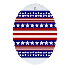 Stars and Stripes Ornament (Oval)