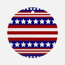 Stars and Stripes Ornament (Round)